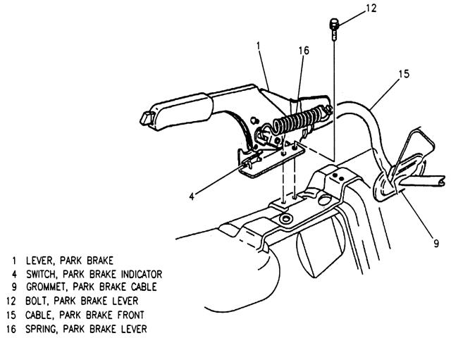 Camaro Emergency Brake Diagram Radio Wiring Diagram