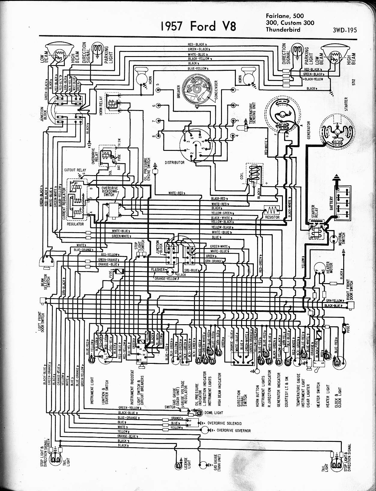 Thunderbird Wiring Diagram on 1957 Ford Fairlane Wiring Diagram