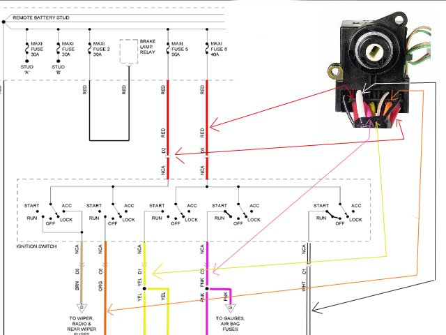 2011 08 24_194822_1995_gmc_3500_pickup_ignition_switch_colors k1500 light switch wiring diagram diagram wiring diagrams for 2006 Dodge Ram Tail Light Wiring Diagram at bakdesigns.co