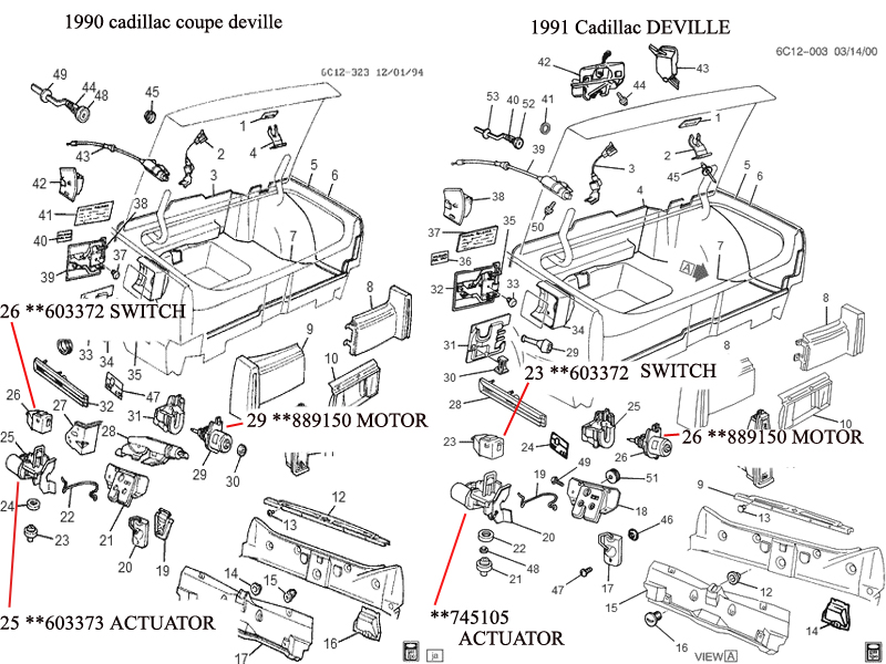 i have a 1990 cadillac coupe deville  the rear deck lid motor controller was missing  went to