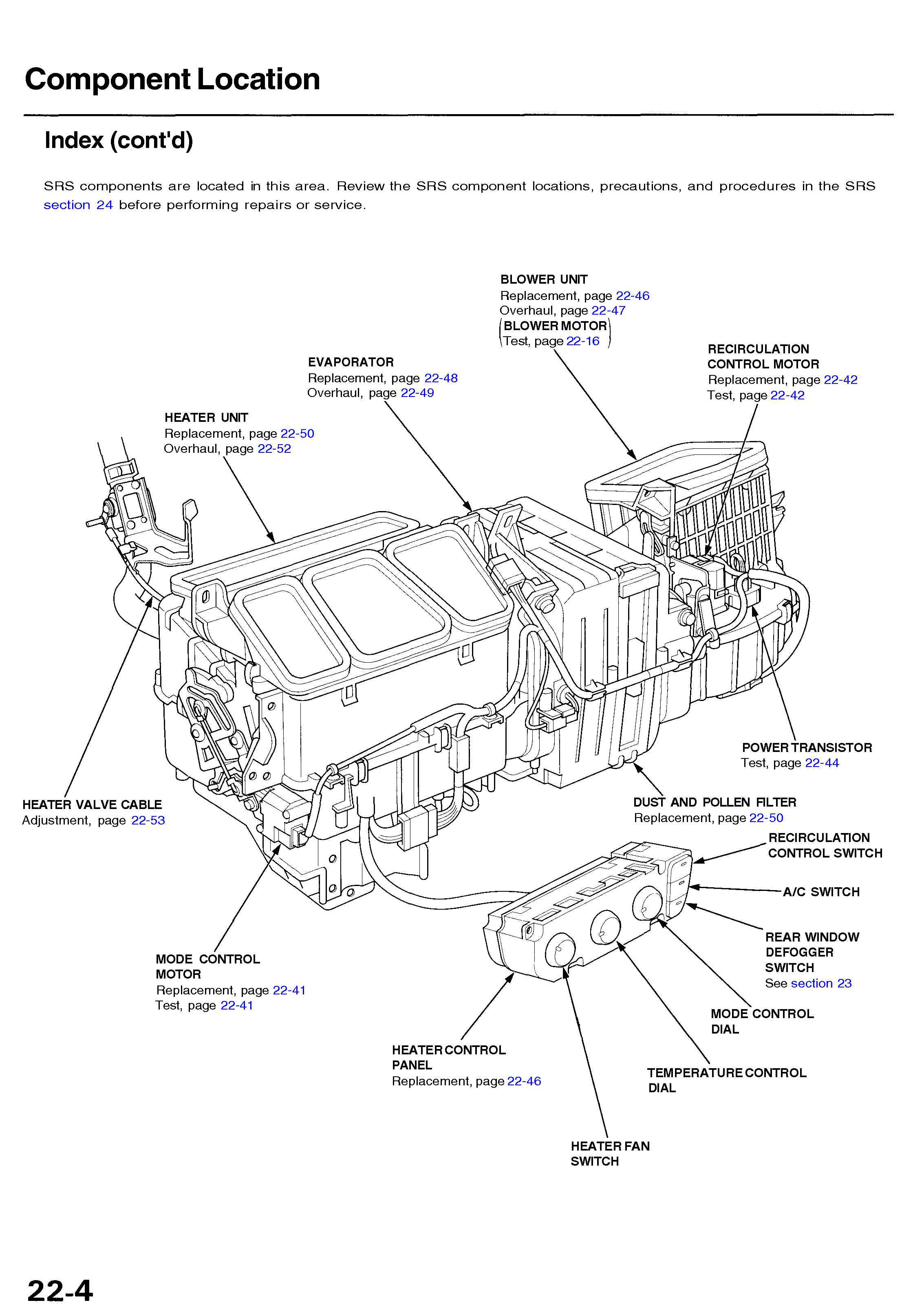 2006 honda civic si wiper diagram