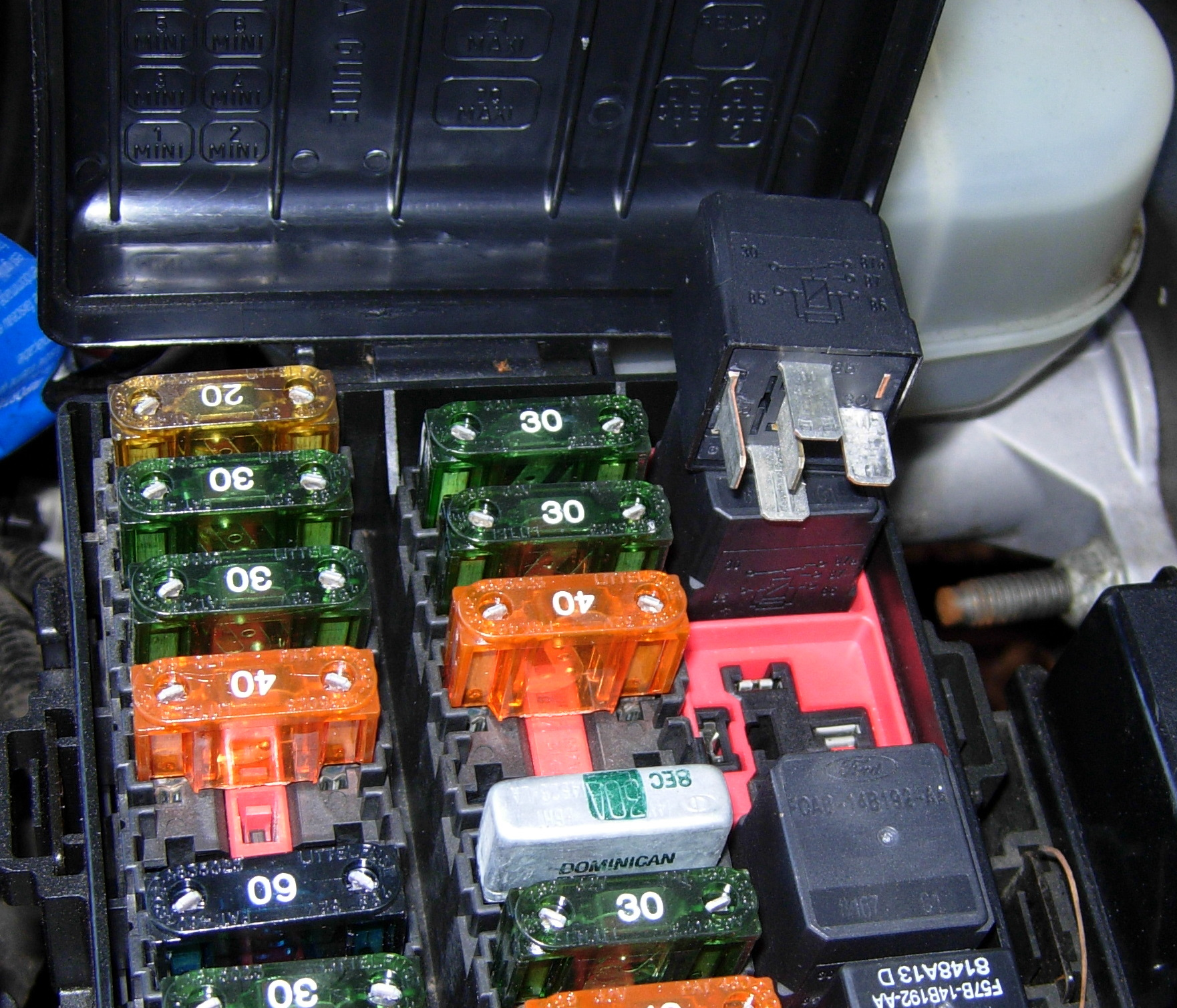 Cruise Control Fuse : Ford explorer fuse box location contour