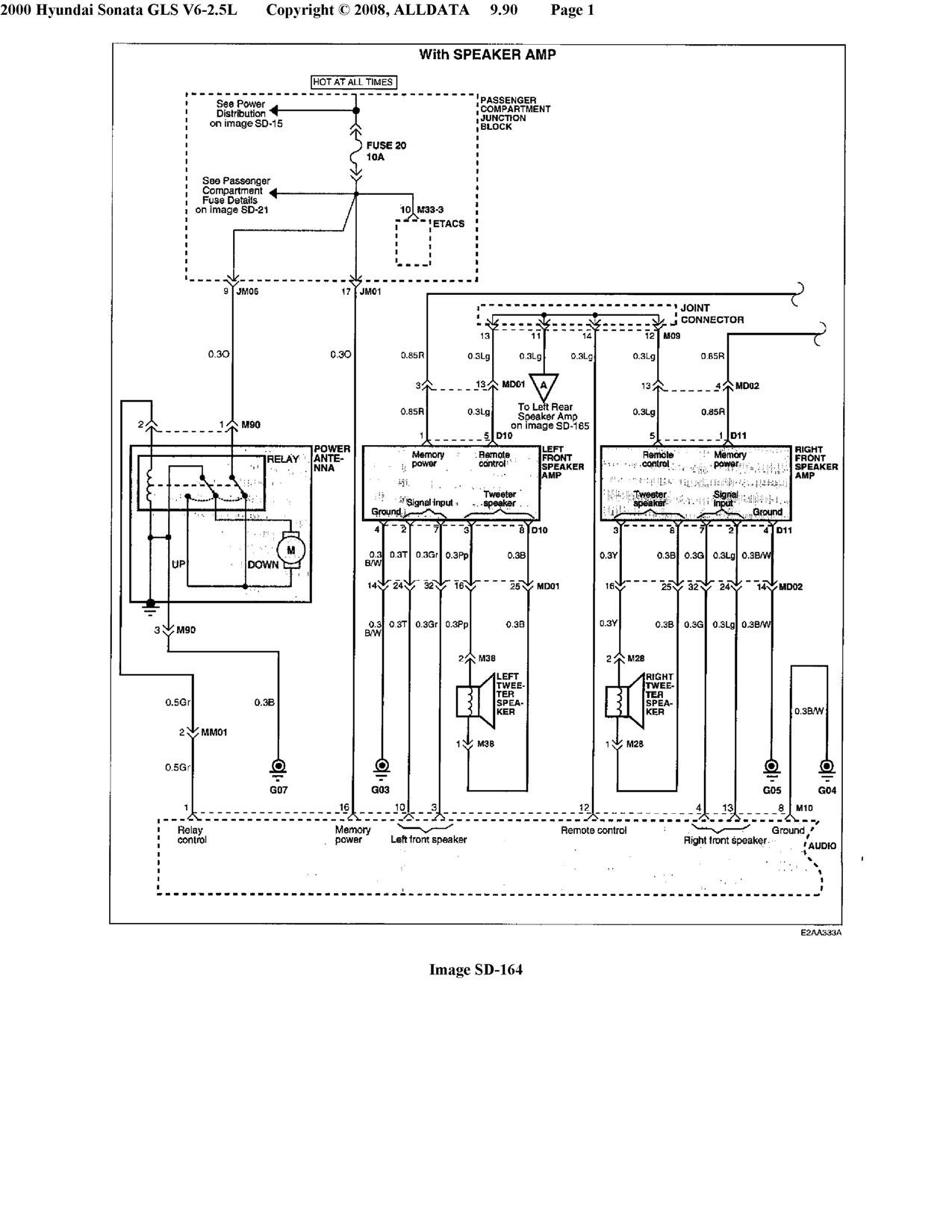 Wiring Diagram For 2001 Hyundai Accent Stereo