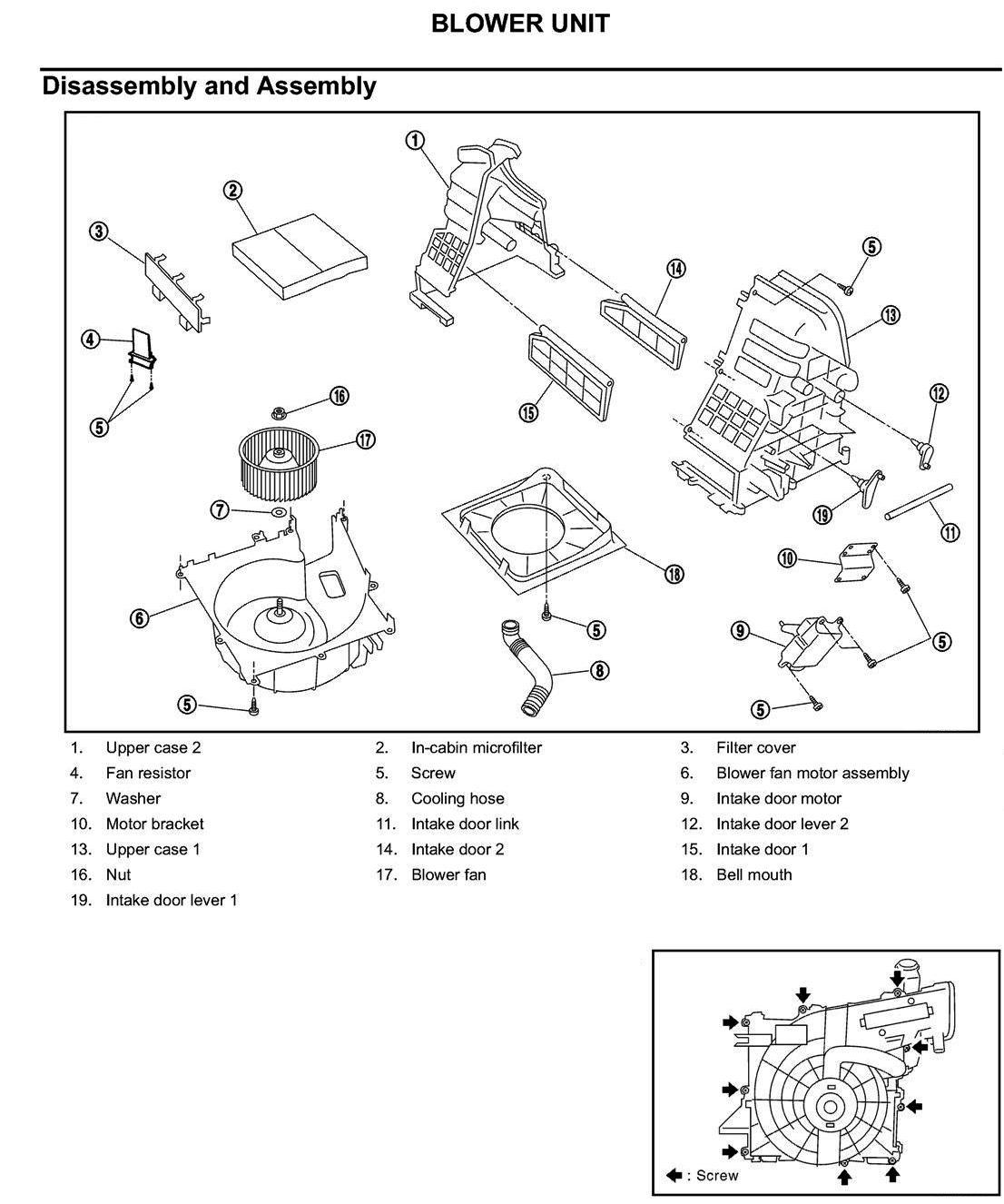 How do I remove fan blower unit from 2003 Nissan xtrail ...