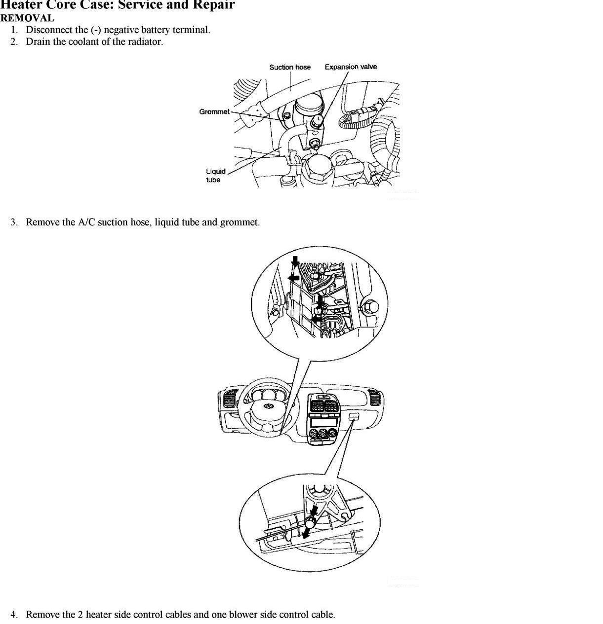 2006 sonata heater core diagram