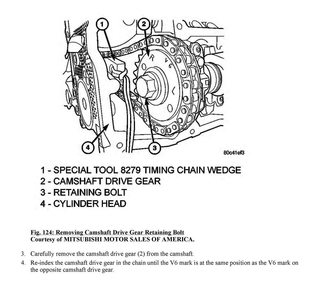 On My 37 V6 Engine There Are 2 Plated Timing Chain Link Covers 2005 Jeep Liberty 3 7 Diagram 8 Graphic
