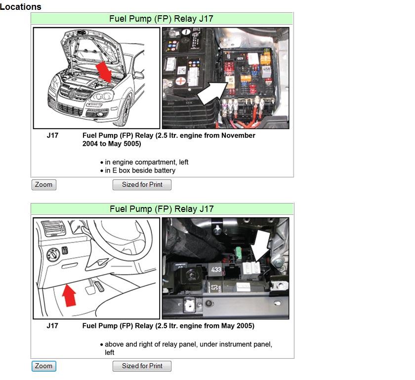 Jetta Fuel Pump Wiring Diagram