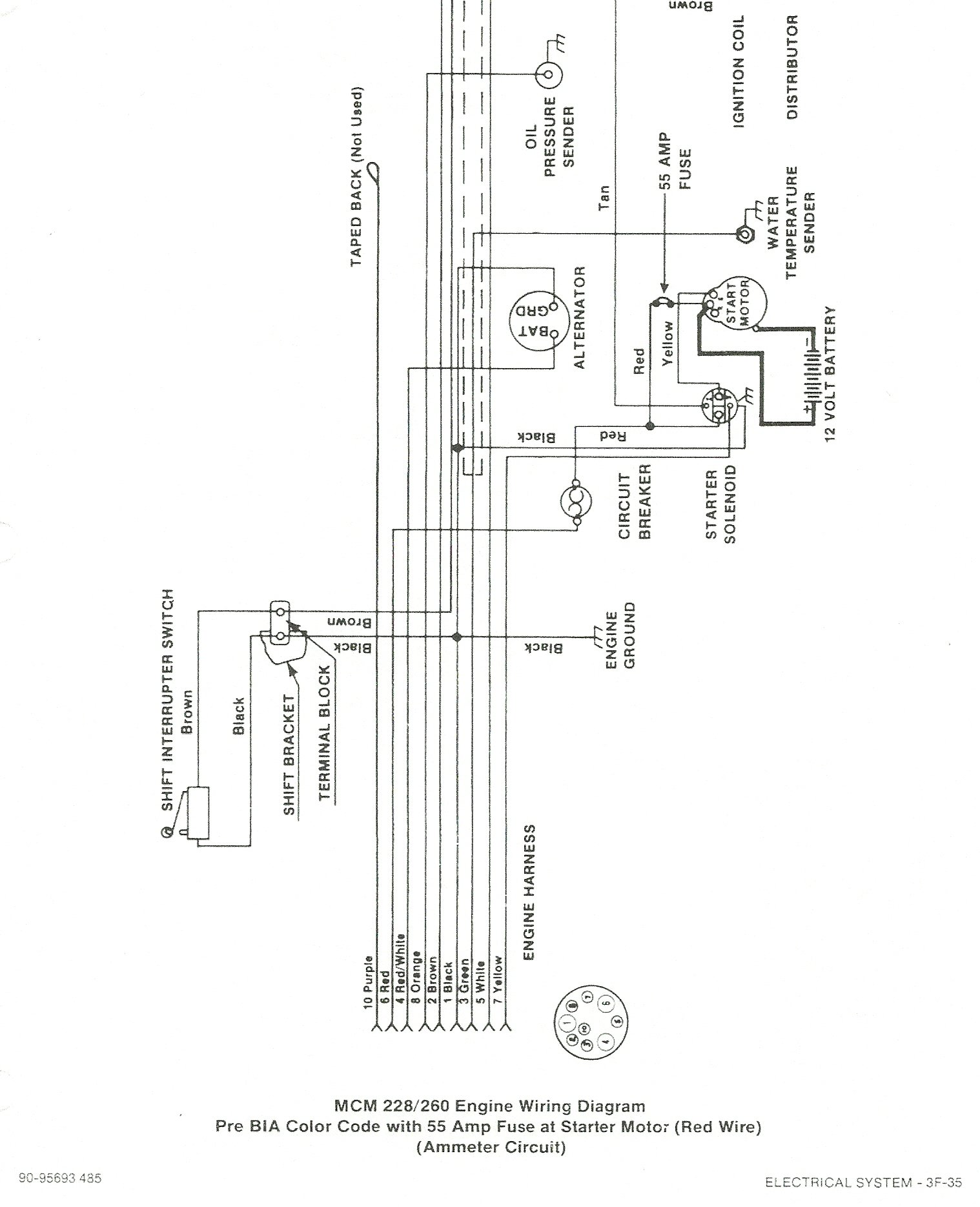 5 7 Mercruiser Engine Wiring Diagram | Find image  Marine Wiring Diagrams on