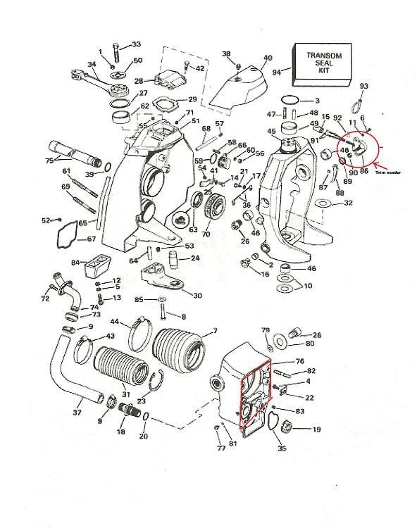 mercruiser shift cable diagram