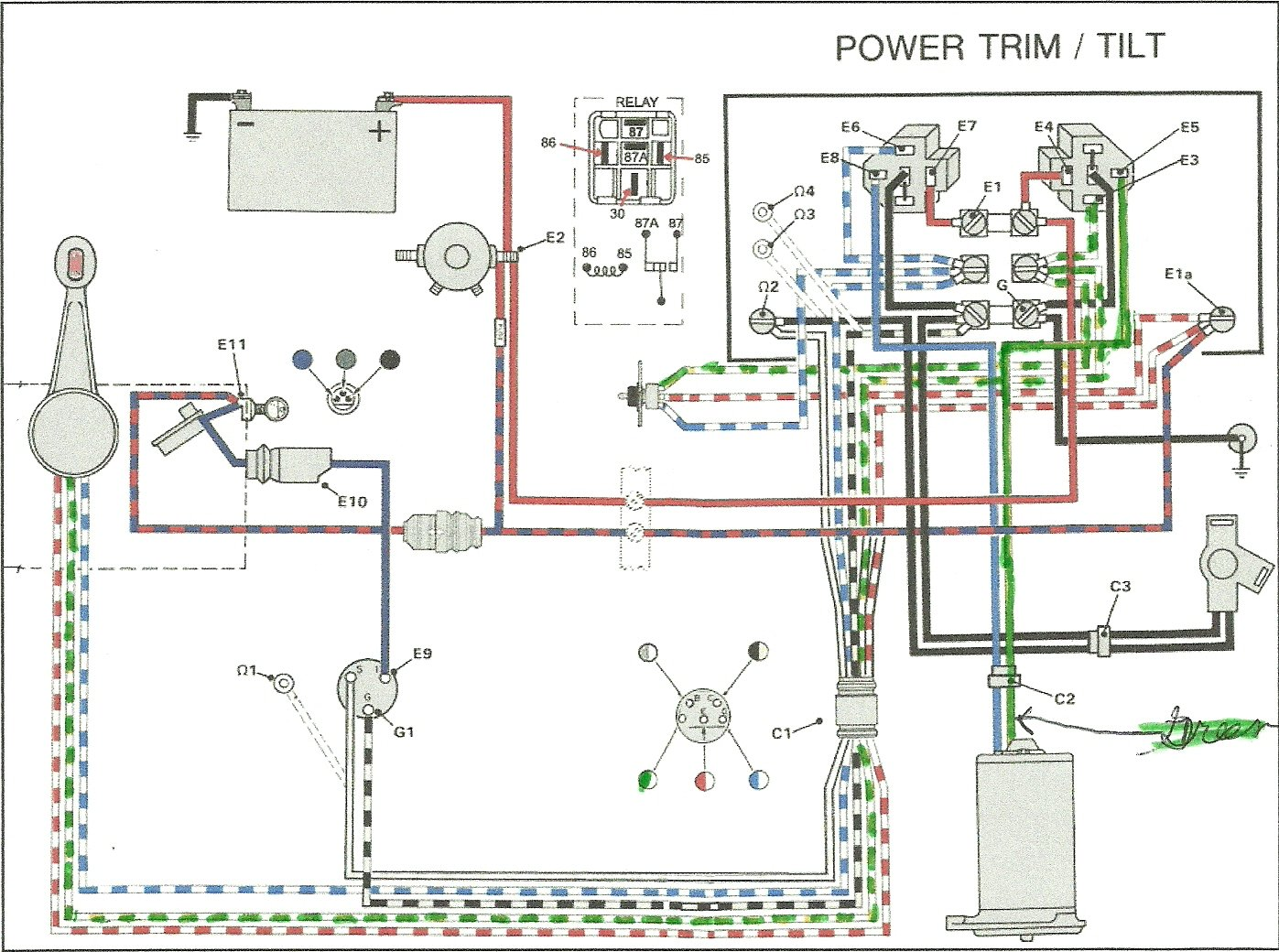 Wiring Diagram For Skeeter Tilt Page 4 And Schematics 1999 Zx190c Faria Multifunction Gauge Diy Enthusiasts Source I Have A 1996 60 Hp The Power Trim Was Working Fine Last 85 Mercury Outboard