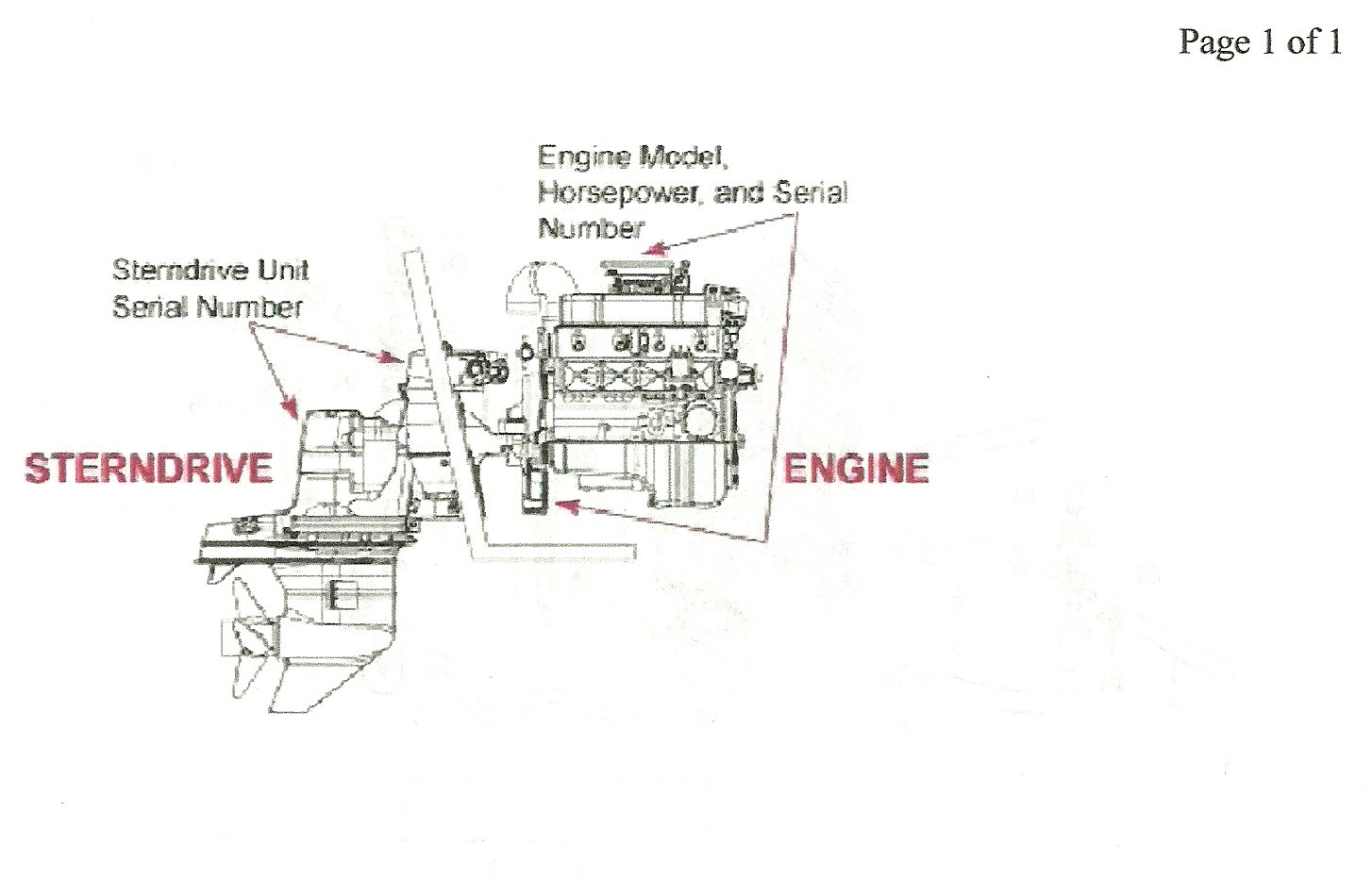Here is the engine serial number location. graphic