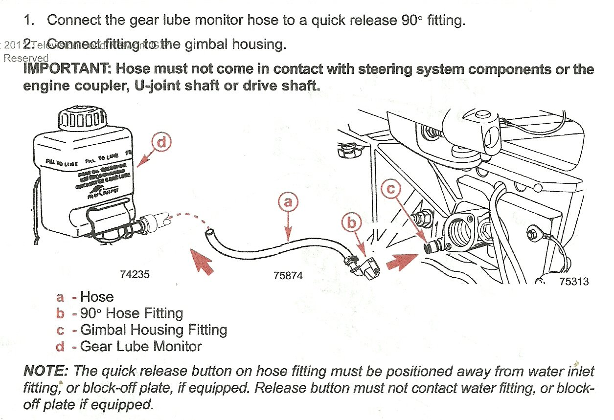 how to connect computer to mercruiser