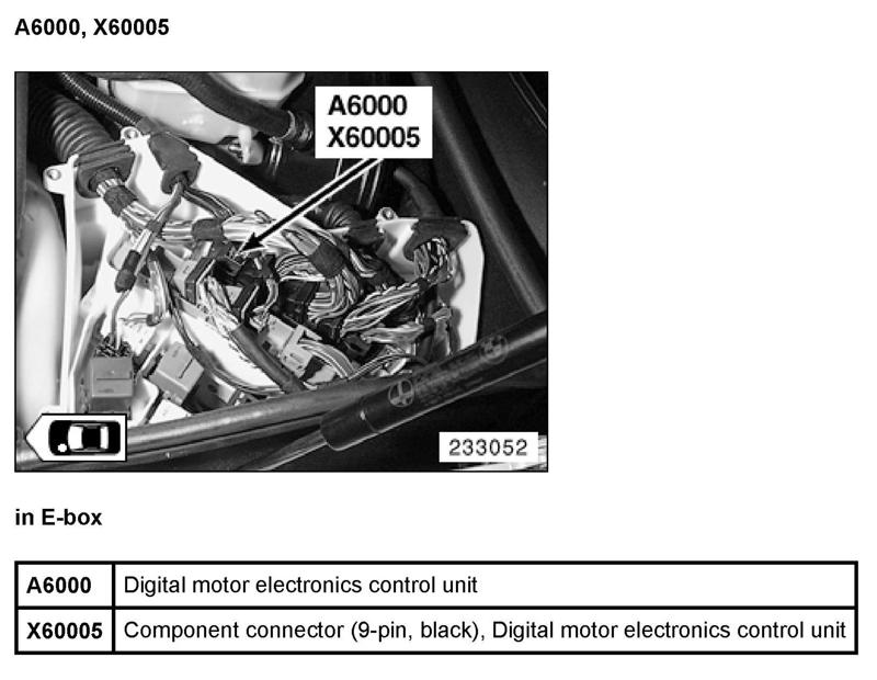 E46 325ci 2004 is my ECM located behind the glove box and what is ...
