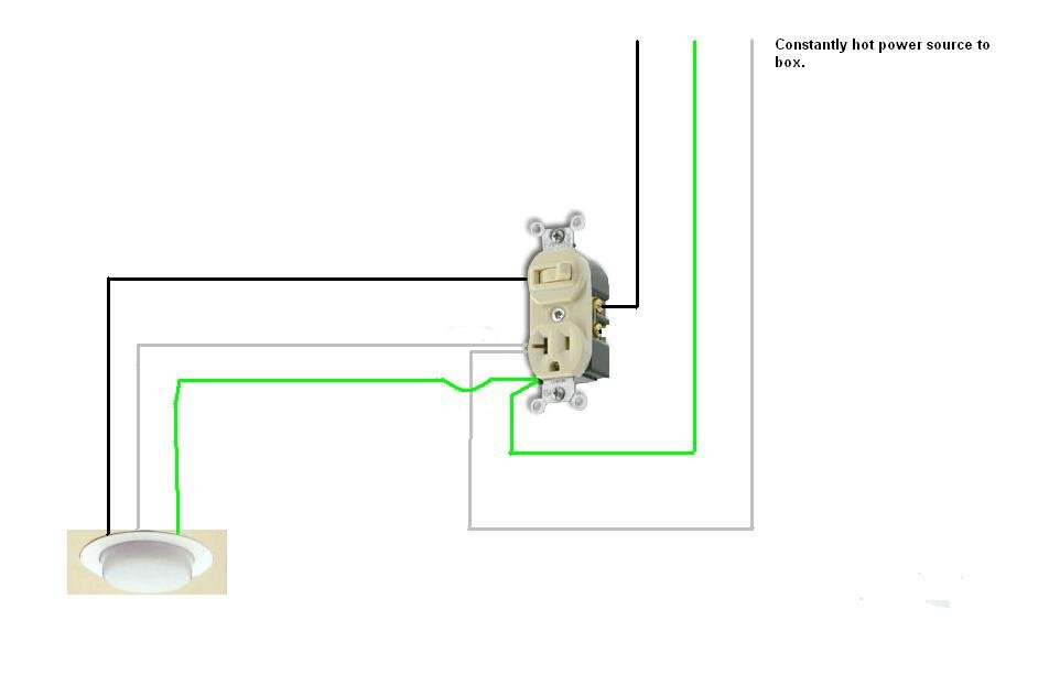 How to wire a toggle switch and outlet. toggle switch to control ...