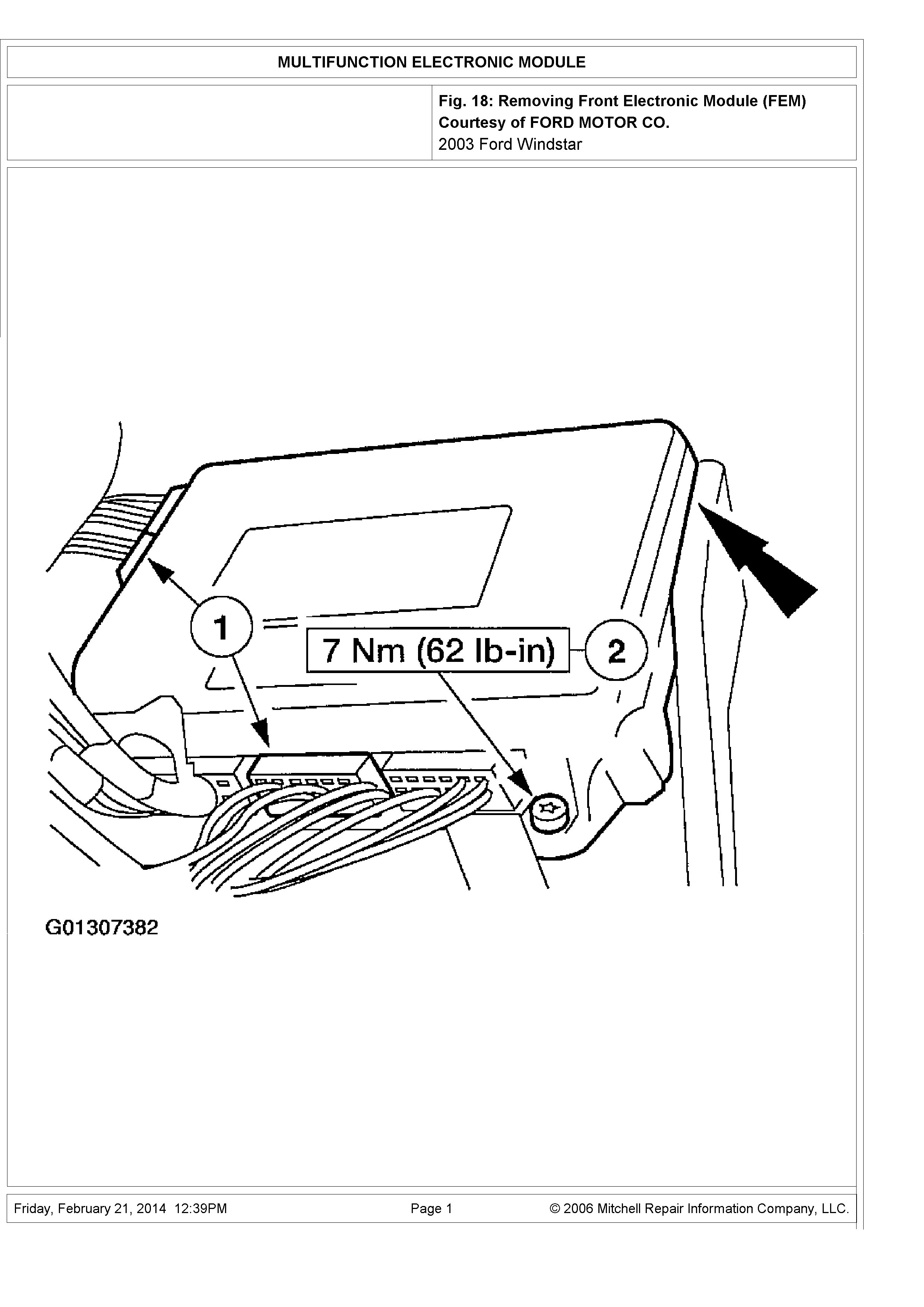 Fuse Box Diagram For 2003 Ford Windstar