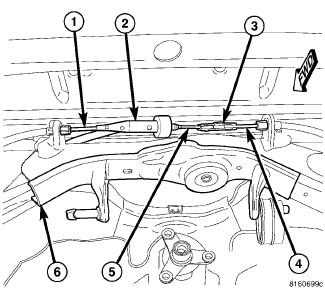 6txbg Chrysler 300c Srt8 Cable Parking Brake Assembly