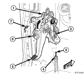 6txbg Chrysler 300c Srt8 Cable Parking Brake Assembly