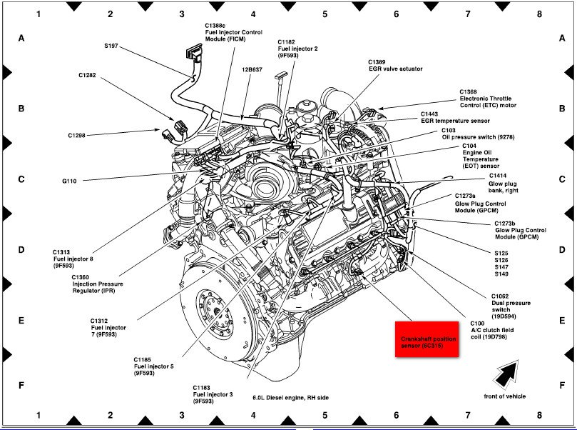 2005 f350 engine diagram