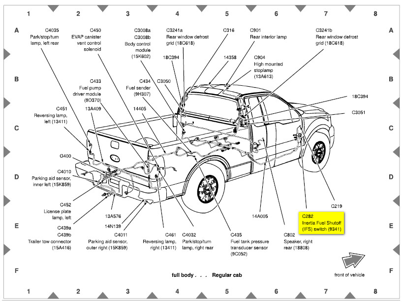 2004 F150 Fuel Pump Manual Says Passenger Side The