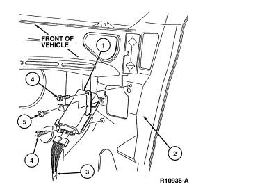crown vic airbag light stays on