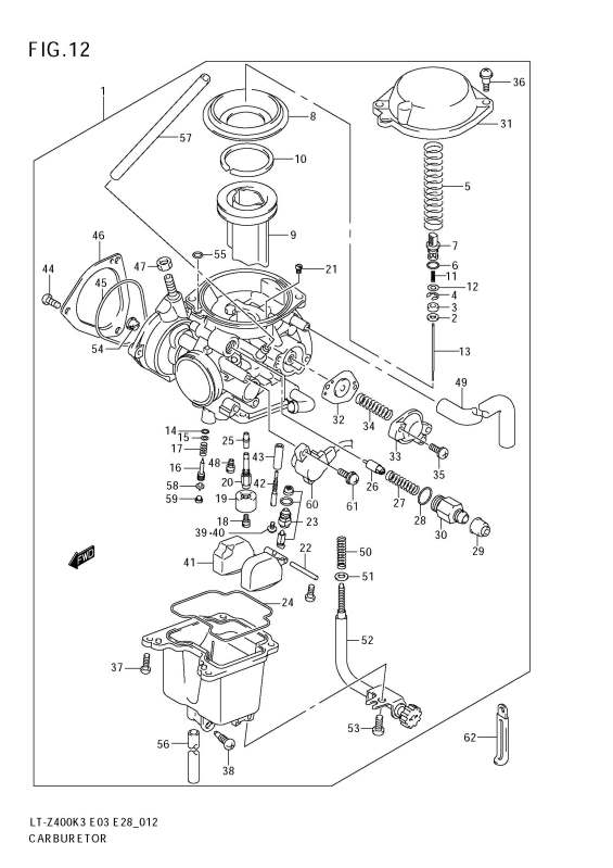 kawasaki prairie 400 carburetor diagram