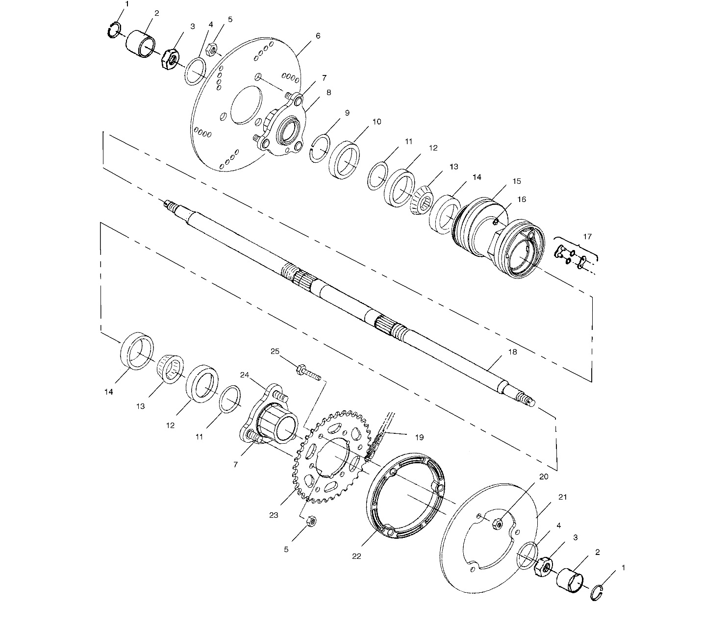 polaris ranger rear axle diagram