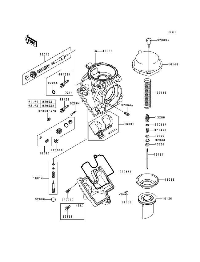 Kawasaki Zx6r Carburetor Diagram
