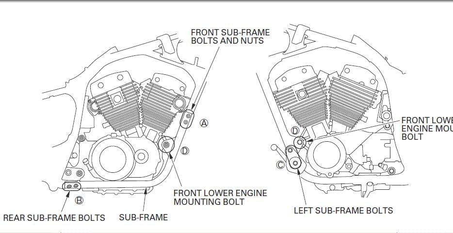 Vt C Sub Frame on Honda Rebel Wiring Diagram