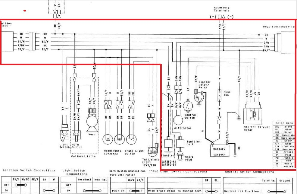 2012 03 06_040021_mule_wire_diagram2 i have three mule 500's given to me all kaf300b they all need to Kawasaki Mule 3010 Parts Diagram at soozxer.org