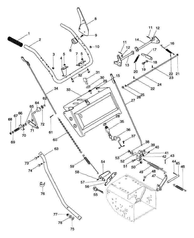 I Have An Ariens Snowblower 8 Hp 924082  The Rod And Spring That Attach To The Handle Are