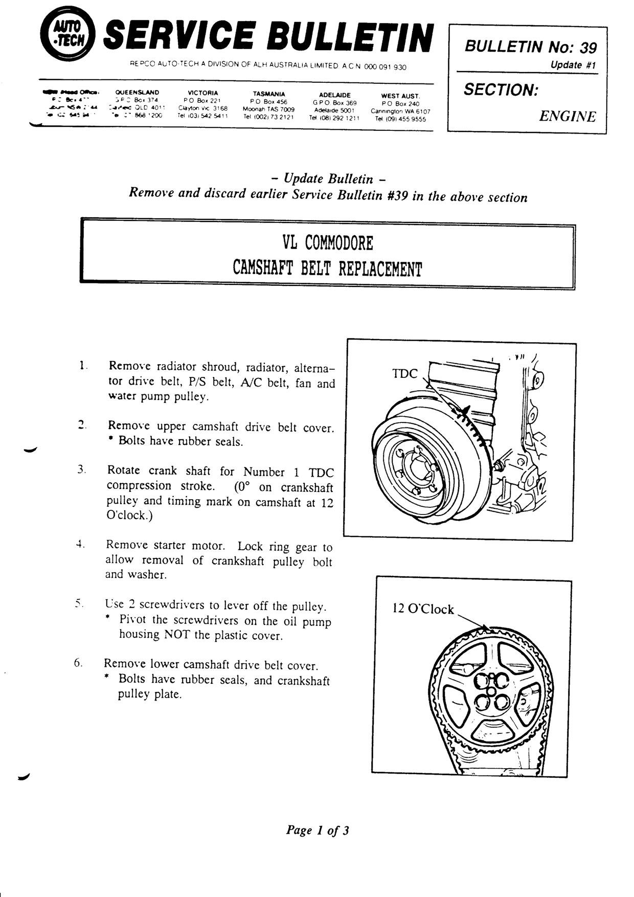 I Need The Timing Belt Diagram For The Nissan Rb30 Engine