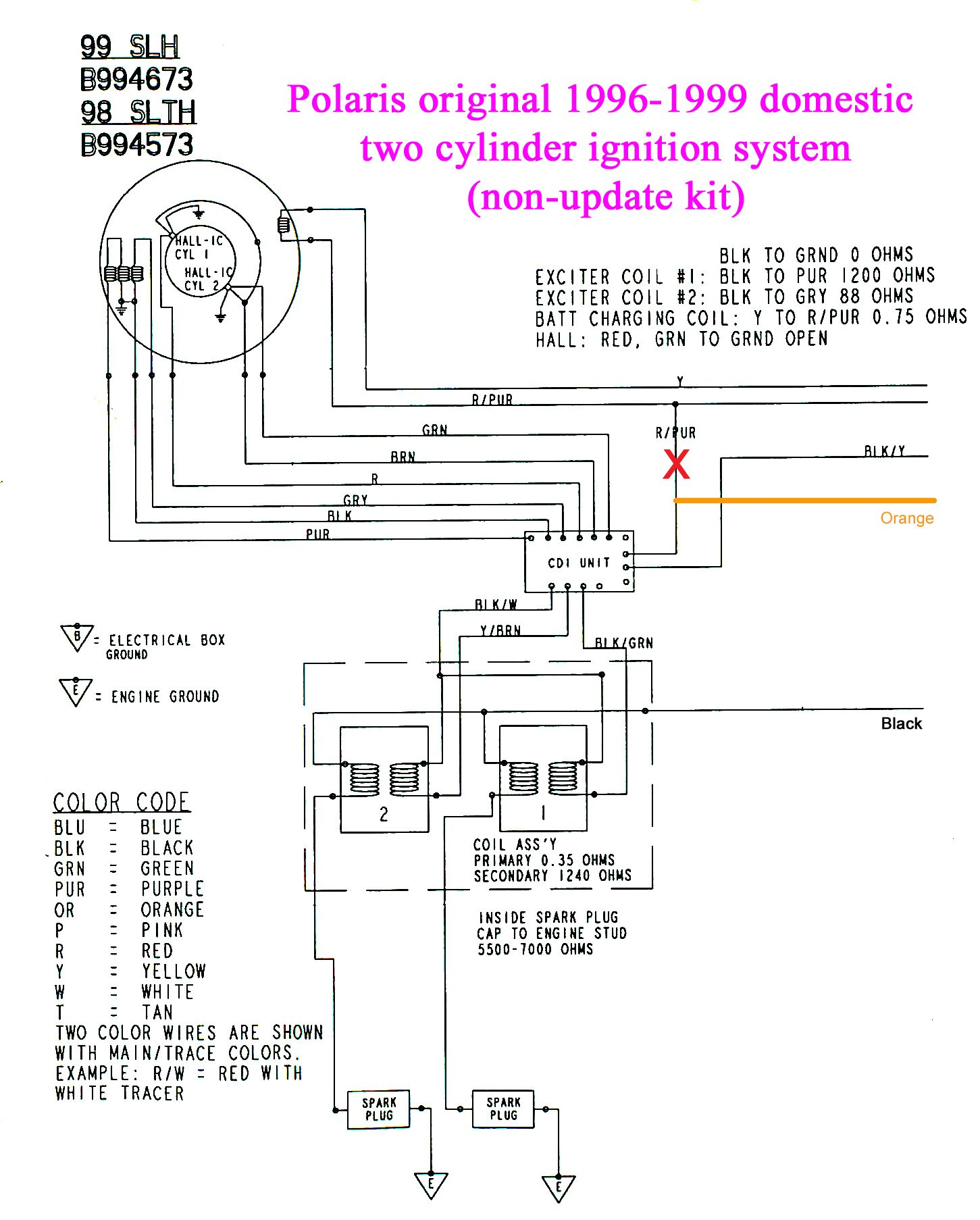 I Do Have A 1996 Polaris Sl700 Need Information Regarding The Wiring Diagrams Graphic