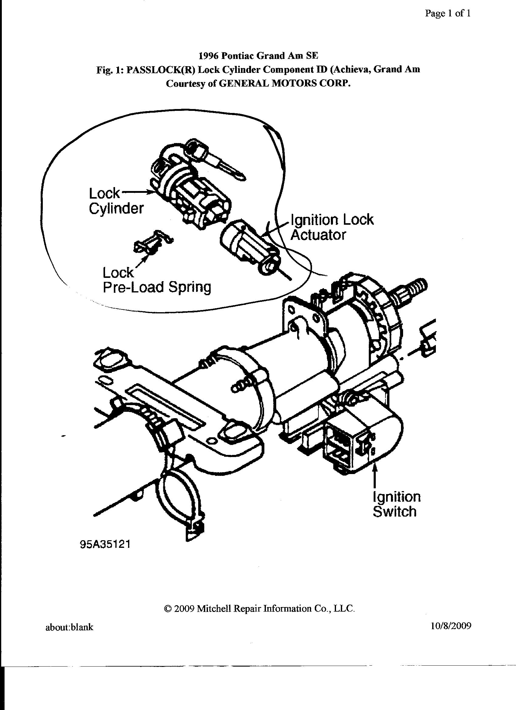 I Have A 1996 Pontiac Grand Am Gt With A 3 1 Liter Engine I Left Home And Notice The The Theft Light Was On The All The