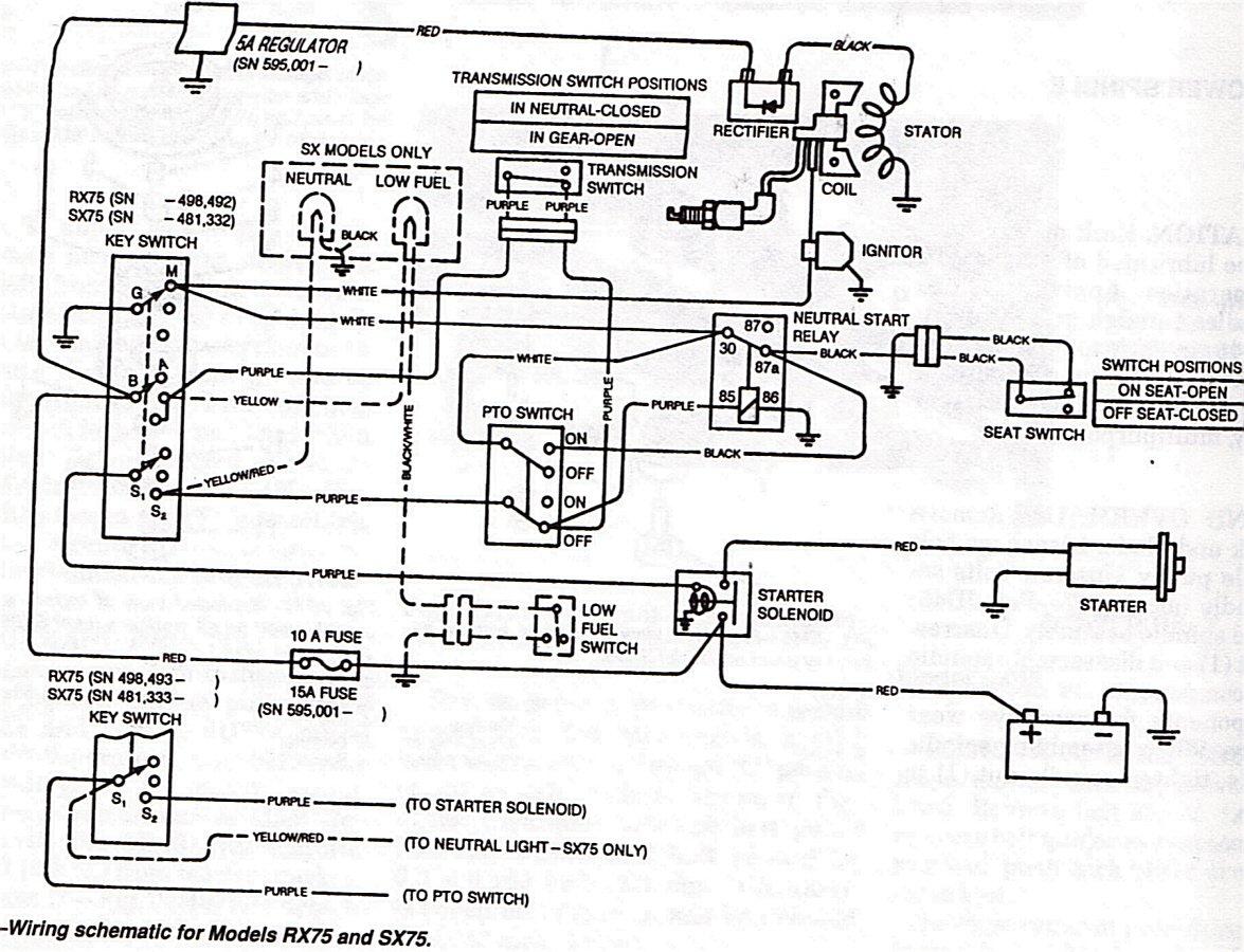 Im trying to repair a John Deere RX 75I wont make a sound – John Deere 2010 Tractor Wiring