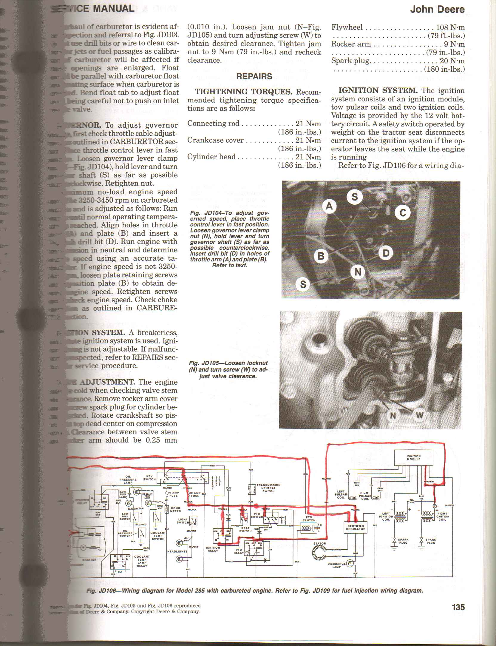 John Deere 185 Wiring Schematic Diagram And Schematics Preclinical Of Lawn Tractor Parts I Have A 285 Kawasaki V Twin 18 Hp Engine While Rh Justanswer