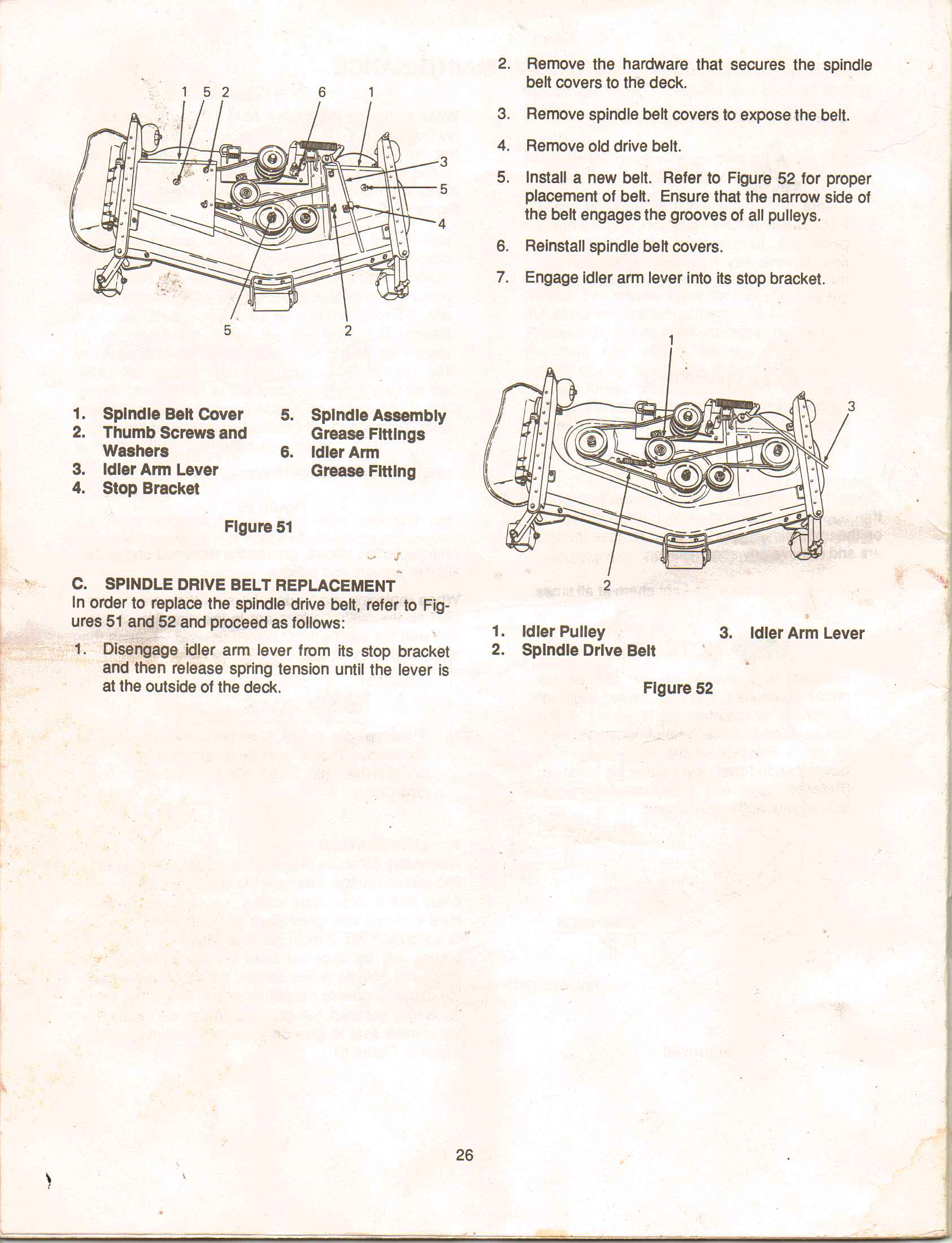 Cub Cadet 2165 Mower Deck Belt Routing Wiring Diagram Full Size Image