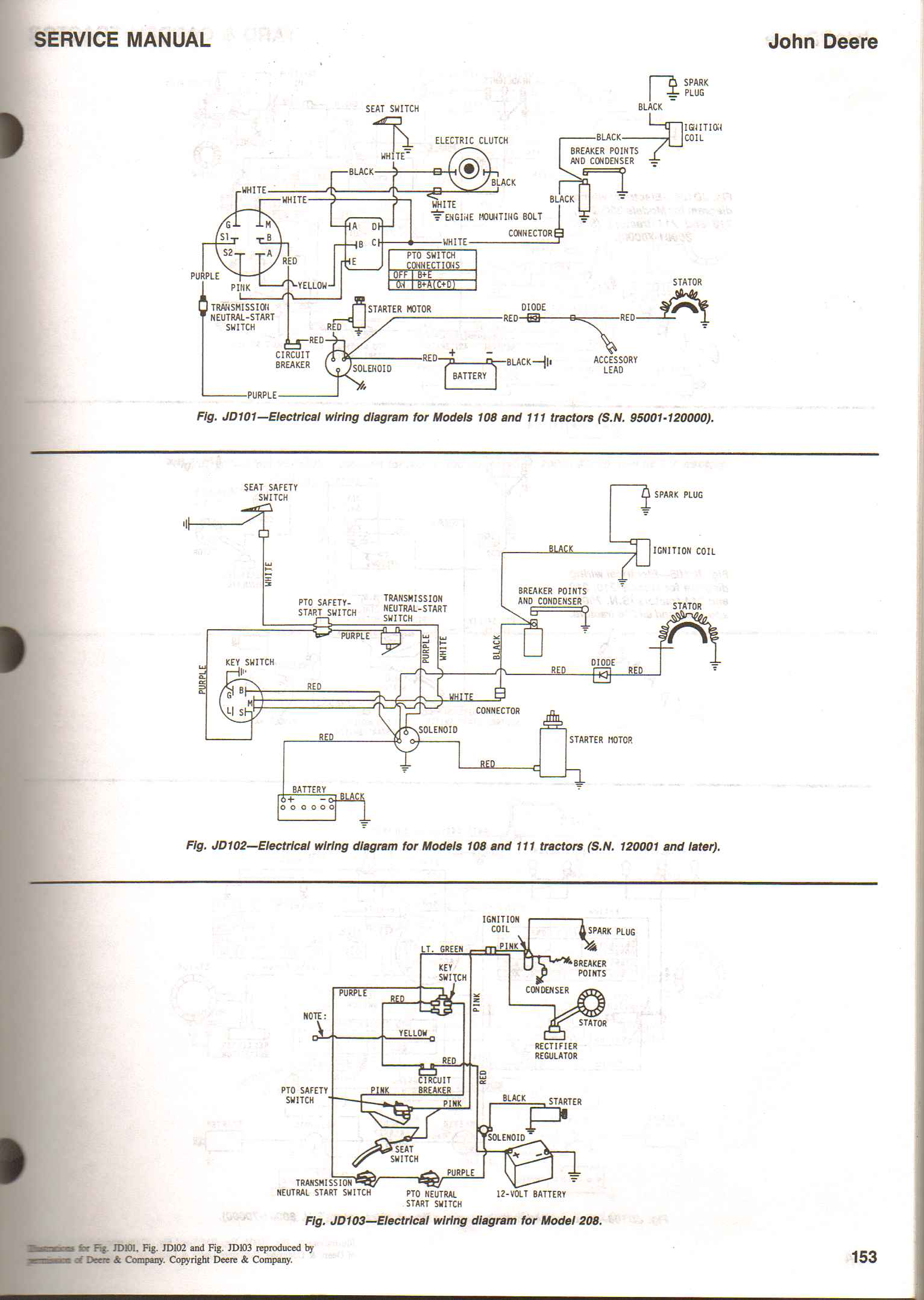 john deere a wiring diagram i have an older deere 111 lawn tractor that will not start ... #6