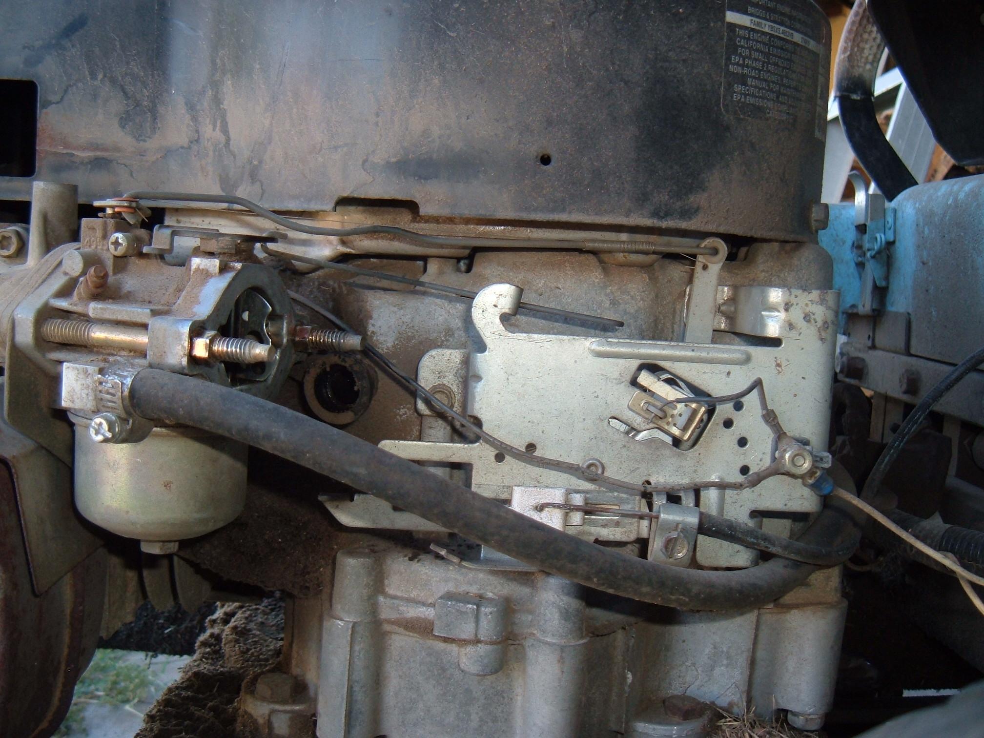 Briggs Series Linkage on Single Cylinder Engine Diagram