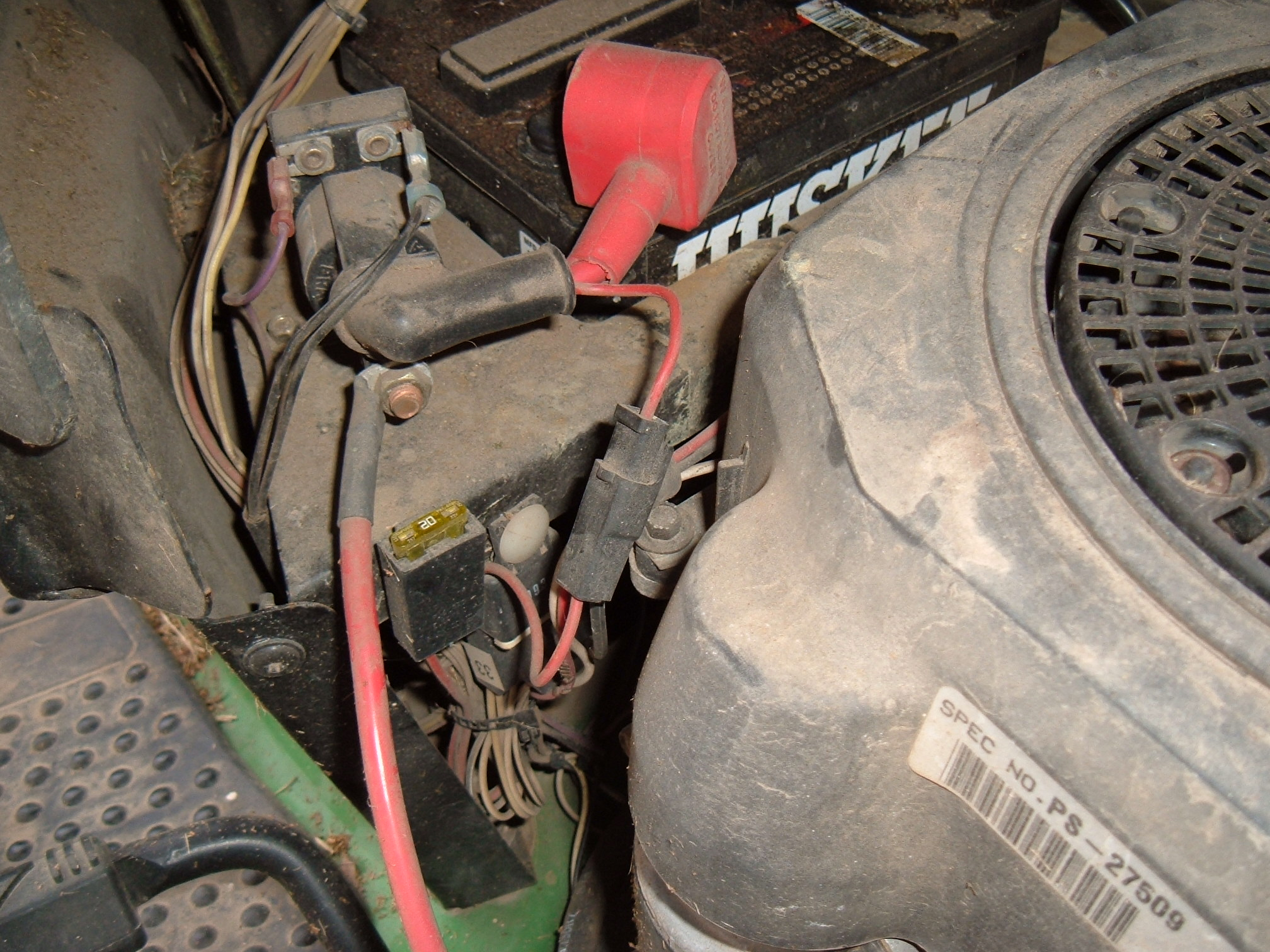 i have a deere l110 tractor  it will not turn over  the