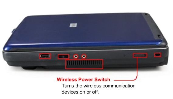 How to turn on wireless communication switch on Toshiba