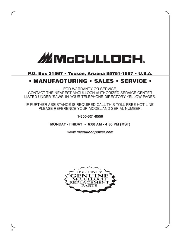 I have a mcculloch chainsaw model 600032 is there a parts graphic greentooth Images