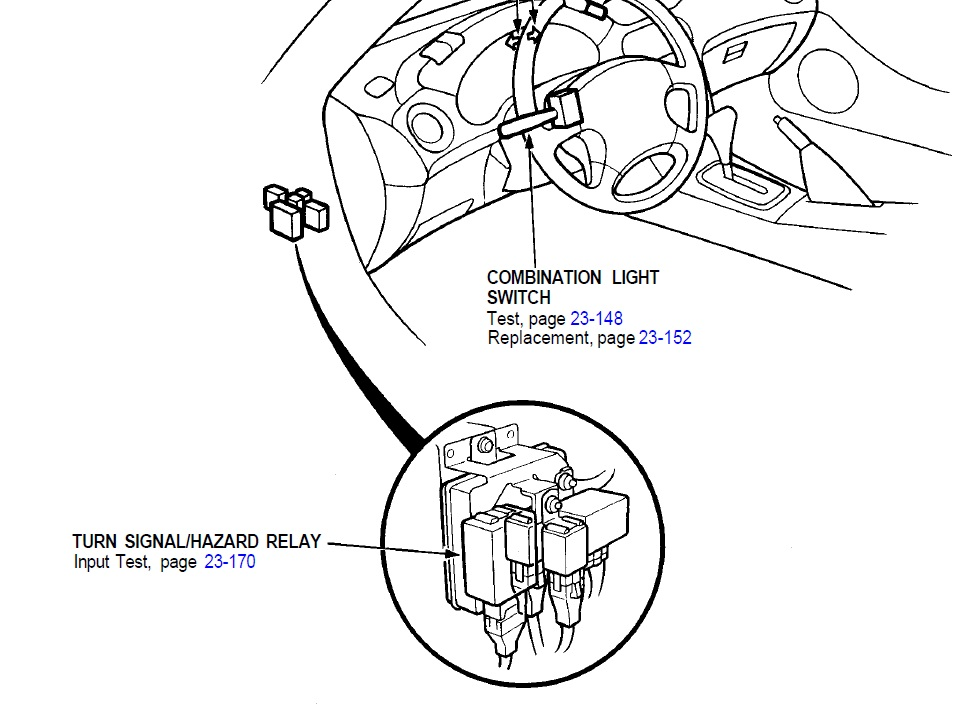 I Need Help Finding Where The Relay Is Located In A 1996 Honda Del Sol