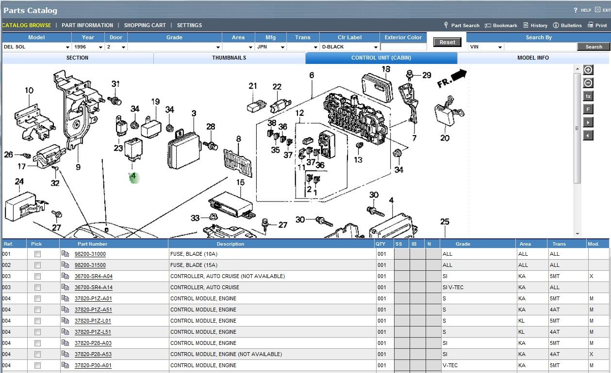 2003 Honda Civic Parts Manual 93 Del Sol Electrical Wiring Diagram 96 Diagrams