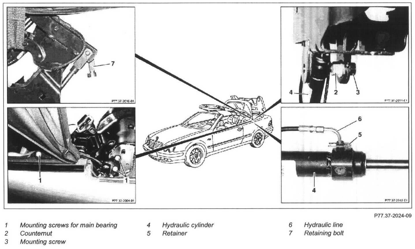 2001 clk 430 convertible top problem