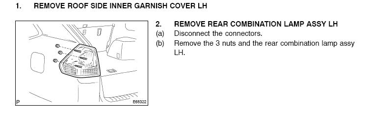 On A Lexus Rx330 How Do I Change A Tail Light Bulb