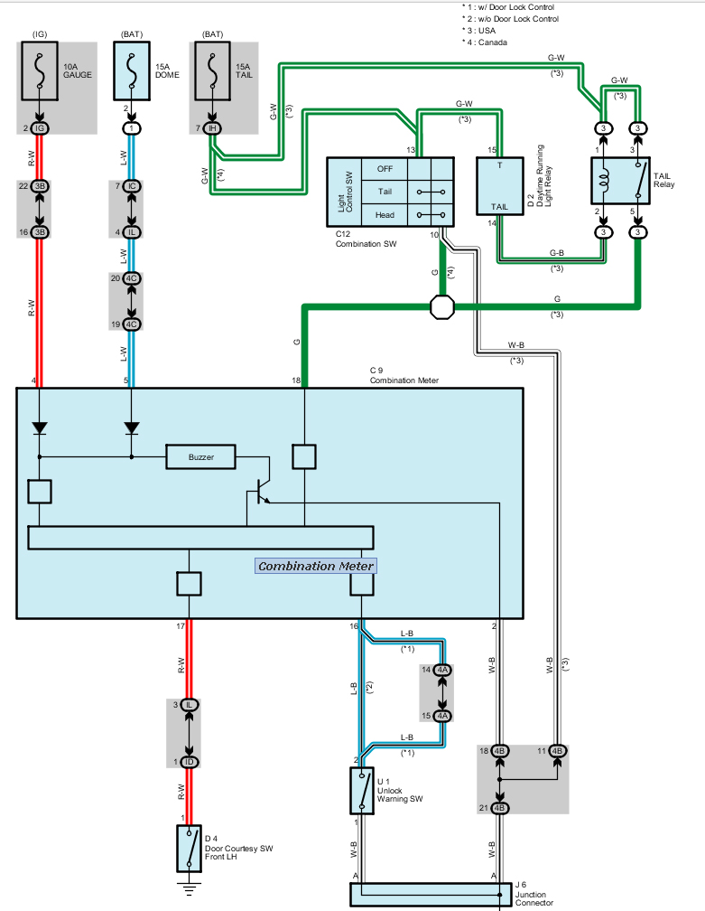 To Install A Louder Buzzer Warn Of The Lights Are Left On Wiring Diagram For