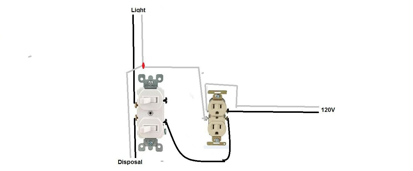 double switch wiring diagram