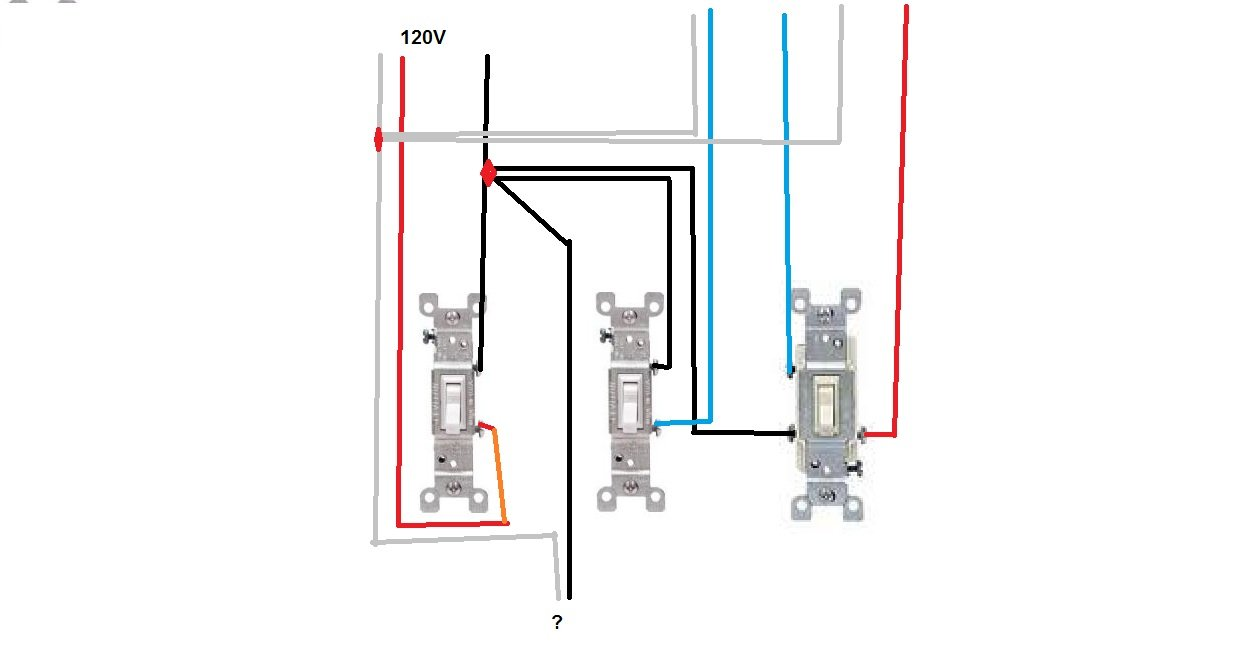 i need help on wiring a lightswitch in 3 gang setup