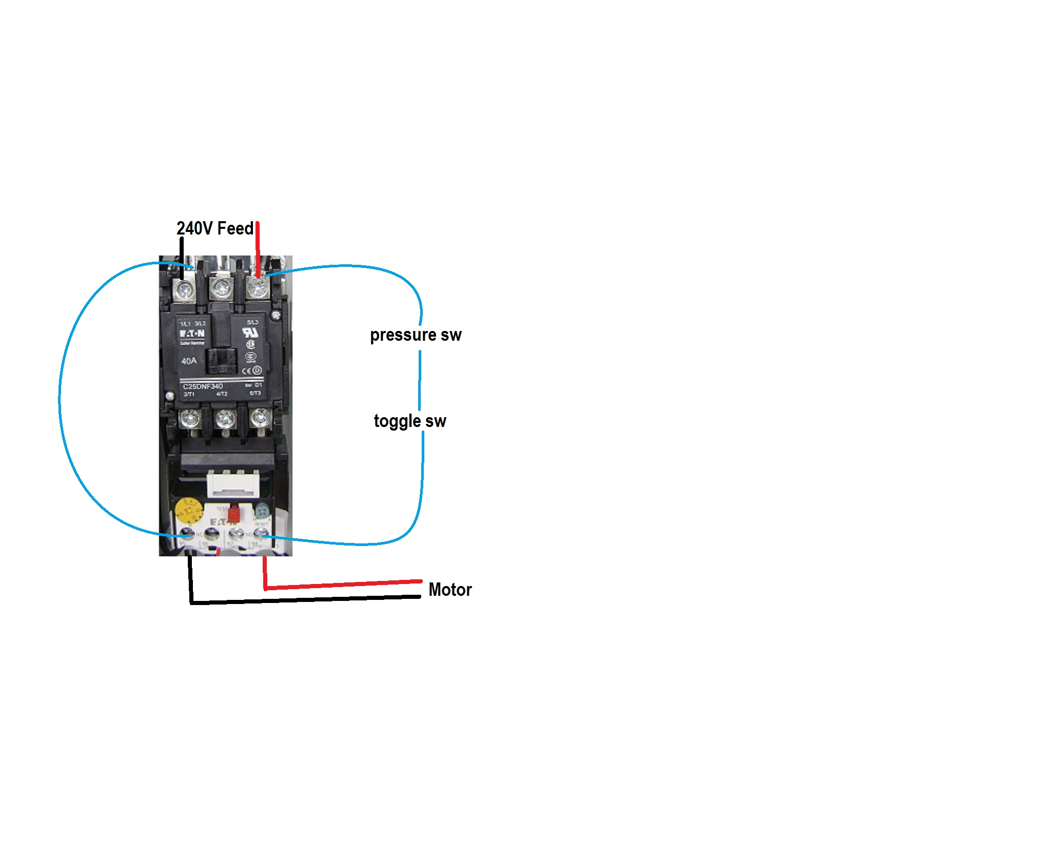 Wiring Magnetic Starter Switch
