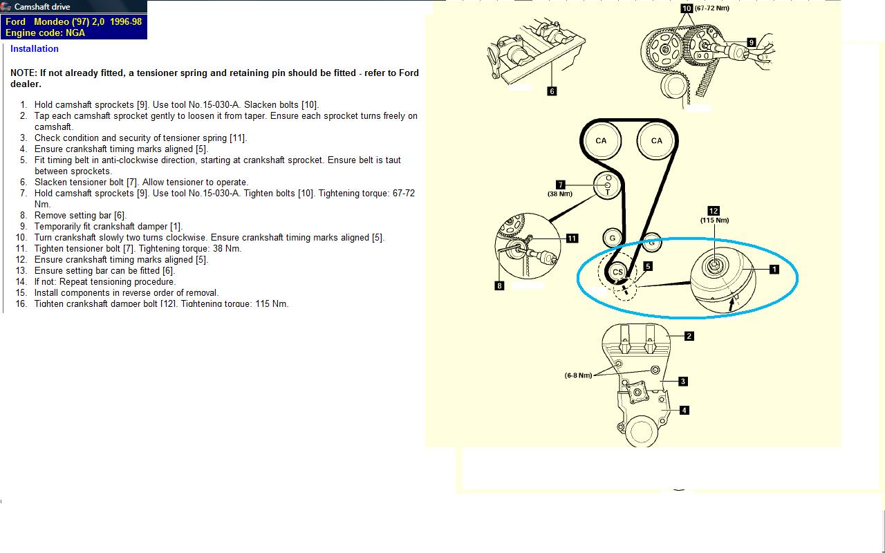 I Have Set The Camshafts With The Bar But Not Too Sure About The Crankshaft Timing Pin  Is There